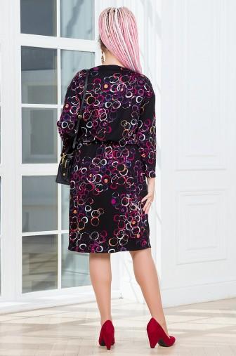 Платье Вивьен Цвет: чёрный / фуксия фото: #1