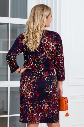 Платье Вивьен Цвет: синий / оранжевый фото: #1