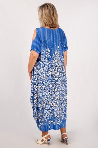 Платье Алиса: Цвет цветы на синем фото: #1