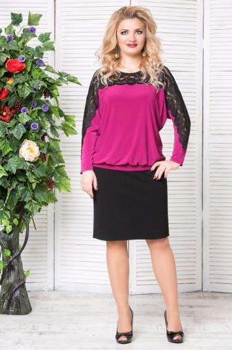 Блуза «Кружево». Цвет: Слива фото: #1