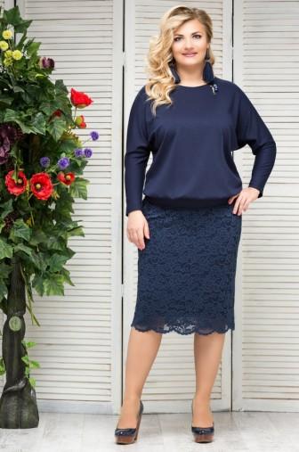 Блузка Верона Цвет:синий фото: #1