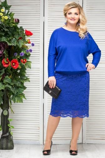 Блузка Верона Цвет:василек фото: #1