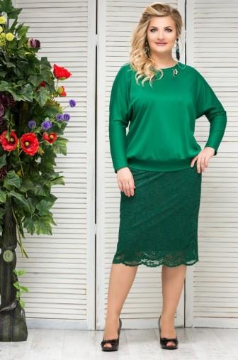 Блузка Верона Цвет:зеленый фото: #1