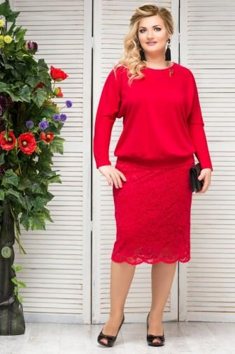 Блузка Верона Цвет:красный фото: #1